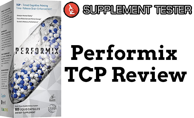 Performix TCP Cover photo of the review with the supplementtester logo.