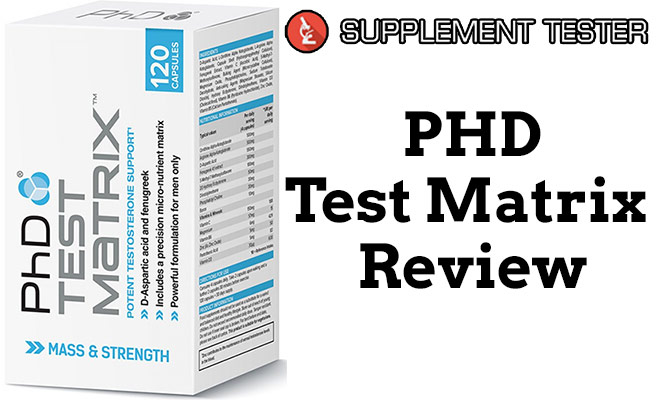 Test Matrix white box with grey and blue text,. It looks very clinical, like something you'd find in a laboratory.