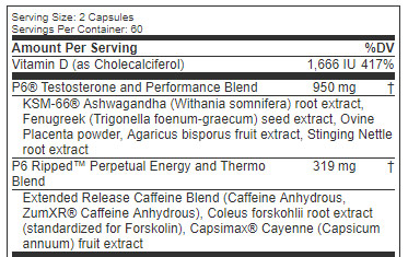 Cellucor-p6-ripped-ingredient-list-review