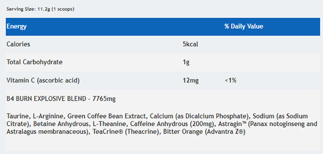 B4-Burn-ingredient-list