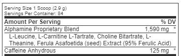 Alphamine-ingredients