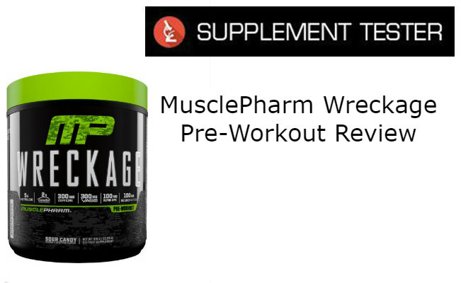 MusclePharm Wreckage Pre-Workout Supplement Review