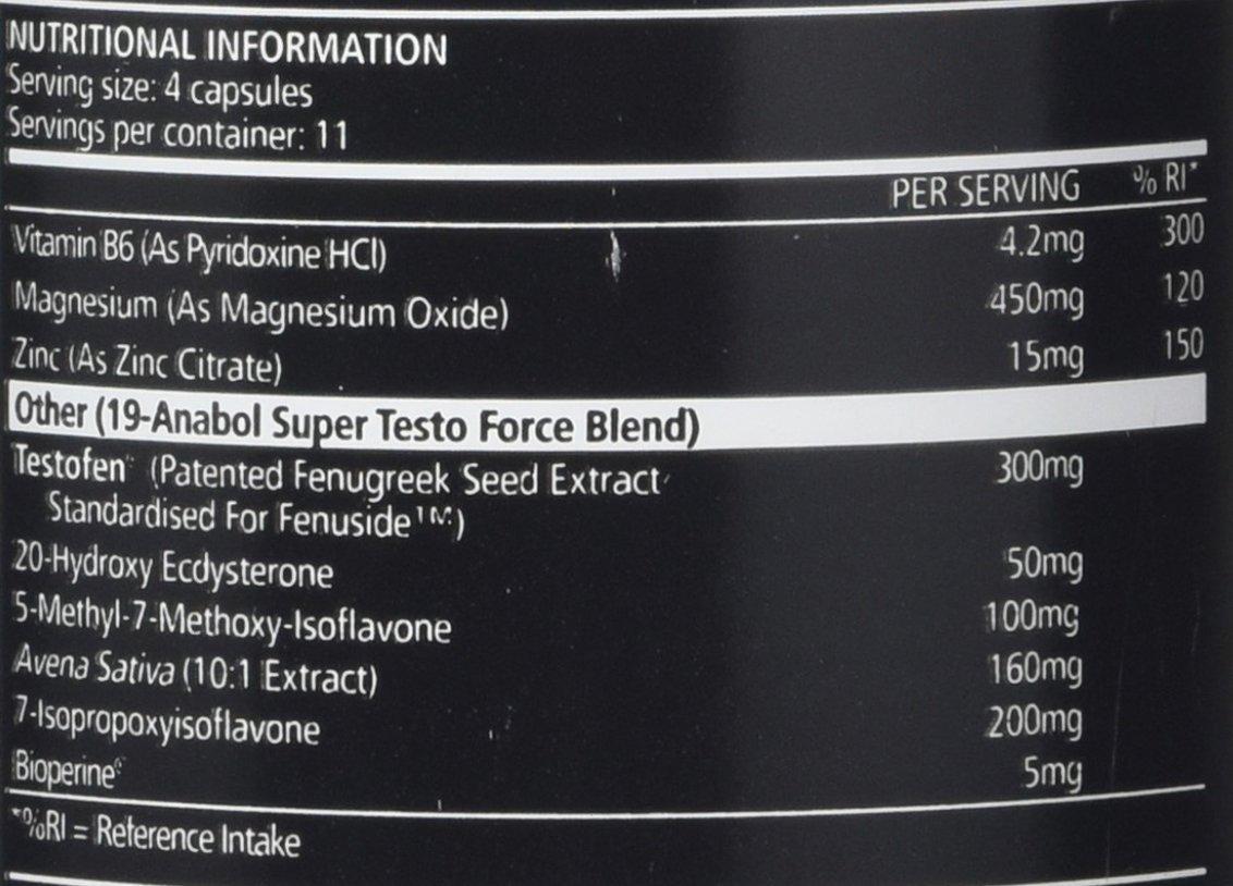USN 19-Anabol Testo ingredients