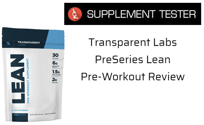 PreSeries Lean Pre-Workout Review