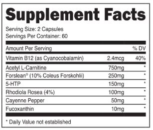 Transparent Labs Fat Burner Stim-Free ingredients