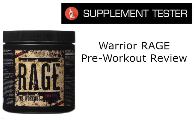 Warrior RAGE Pre-Workout Review