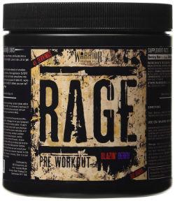 Warrior RAGE pre-workout bottle