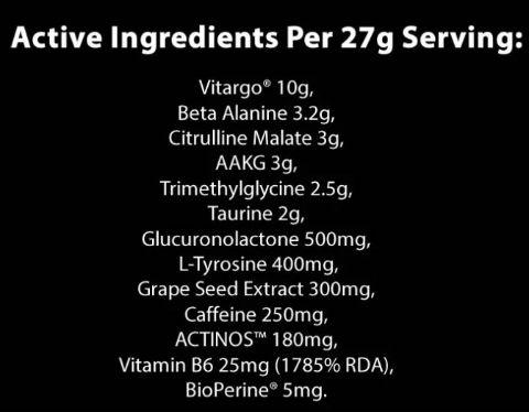 Bulk Powders Elevate ingredients