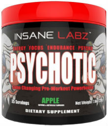 Psychotic pre-workout bottle